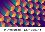 dynamic geometric background.... | Shutterstock .eps vector #1274985145