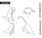 set of hand drawn dinosaurs.... | Shutterstock .eps vector #1274989255