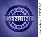 genuine emblem with denim... | Shutterstock .eps vector #1274995342