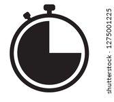 stopwatch icon on white...
