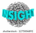 insight analysis  word letter...   Shutterstock . vector #1275006892