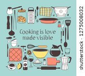 hand drawn illustration cooking ...   Shutterstock .eps vector #1275008032