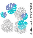 vector tropical pattern with... | Shutterstock .eps vector #1275027088