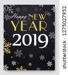 new year 2019 card and merry... | Shutterstock .eps vector #1275027952