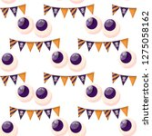 seamless pattern with eye happy ... | Shutterstock .eps vector #1275058162