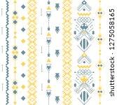 aztec american indian pattern... | Shutterstock .eps vector #1275058165
