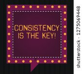text sign showing consistency... | Shutterstock . vector #1275069448