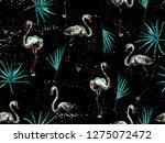 large hipster flamingo blue... | Shutterstock . vector #1275072472