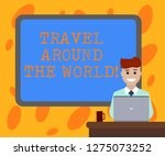 writing note showing travel... | Shutterstock . vector #1275073252