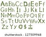 english alphabet | Shutterstock . vector #127509968