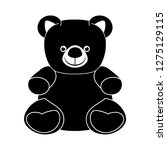 teddy bear plush toy flat... | Shutterstock .eps vector #1275129115