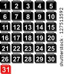 calendar | Shutterstock .eps vector #127513592
