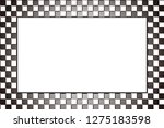 Checkered Picture Frame  Photo...
