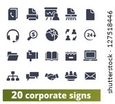 corporate signs  vector set of...