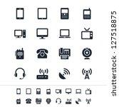 communication device icons | Shutterstock .eps vector #127518875