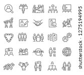 human resource  icon set. job... | Shutterstock .eps vector #1275194995