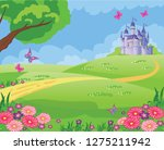 fairy tale background with... | Shutterstock .eps vector #1275211942