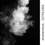 smoke fragments on a black... | Shutterstock . vector #127521302