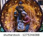 nativity scene jesus kid statue ... | Shutterstock . vector #1275246088