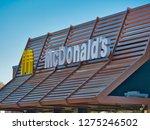 orte  italy   dec 2018  sign mc ... | Shutterstock . vector #1275246502
