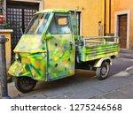 ape car multicolor parked... | Shutterstock . vector #1275246568