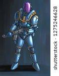 concept art digital painting or ... | Shutterstock . vector #1275246628