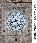 clock ancient or retro vintage... | Shutterstock . vector #1275247192