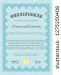 light blue diploma or... | Shutterstock .eps vector #1275250408