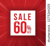sale promotion banner up to 60  ... | Shutterstock .eps vector #1275264205