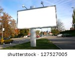 blank billboard on field | Shutterstock . vector #127527005