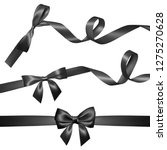 set of realistic black bow with ... | Shutterstock .eps vector #1275270628