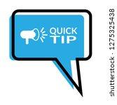 quick tip sign  speech bubble....