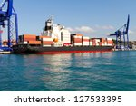 container ship | Shutterstock . vector #127533395