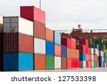 containers | Shutterstock . vector #127533398