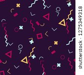 seamless memphis background.... | Shutterstock .eps vector #1275349318