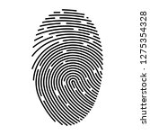 outline fingerprint flat vector ... | Shutterstock .eps vector #1275354328