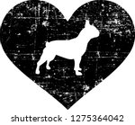french bulldog silhouette in... | Shutterstock .eps vector #1275364042