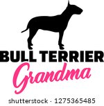 bull terrier grandma silhouette ... | Shutterstock .eps vector #1275365485