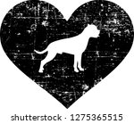 boxer silhouette in black heart | Shutterstock .eps vector #1275365515