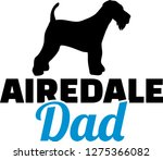 airedale terrier dad silhouette ... | Shutterstock .eps vector #1275366082