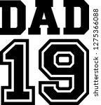 dad 2019 father | Shutterstock .eps vector #1275366088