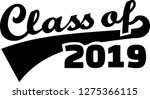 class of 2019 words retro style ... | Shutterstock .eps vector #1275366115