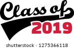 class of 2019 words retro style ... | Shutterstock .eps vector #1275366118
