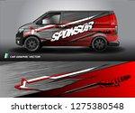 cargo van graphic vector.... | Shutterstock .eps vector #1275380548