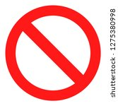 vector no sign icon. red... | Shutterstock .eps vector #1275380998