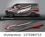 cargo van graphic vector.... | Shutterstock .eps vector #1275384715