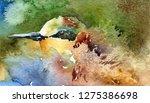 bright beautiful bird bee eater ... | Shutterstock . vector #1275386698