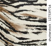 Brown And White Tiger Skin...