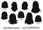 beautiful hairstyle of woman... | Shutterstock .eps vector #1275399955