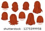 beautiful hairstyle of woman... | Shutterstock .eps vector #1275399958